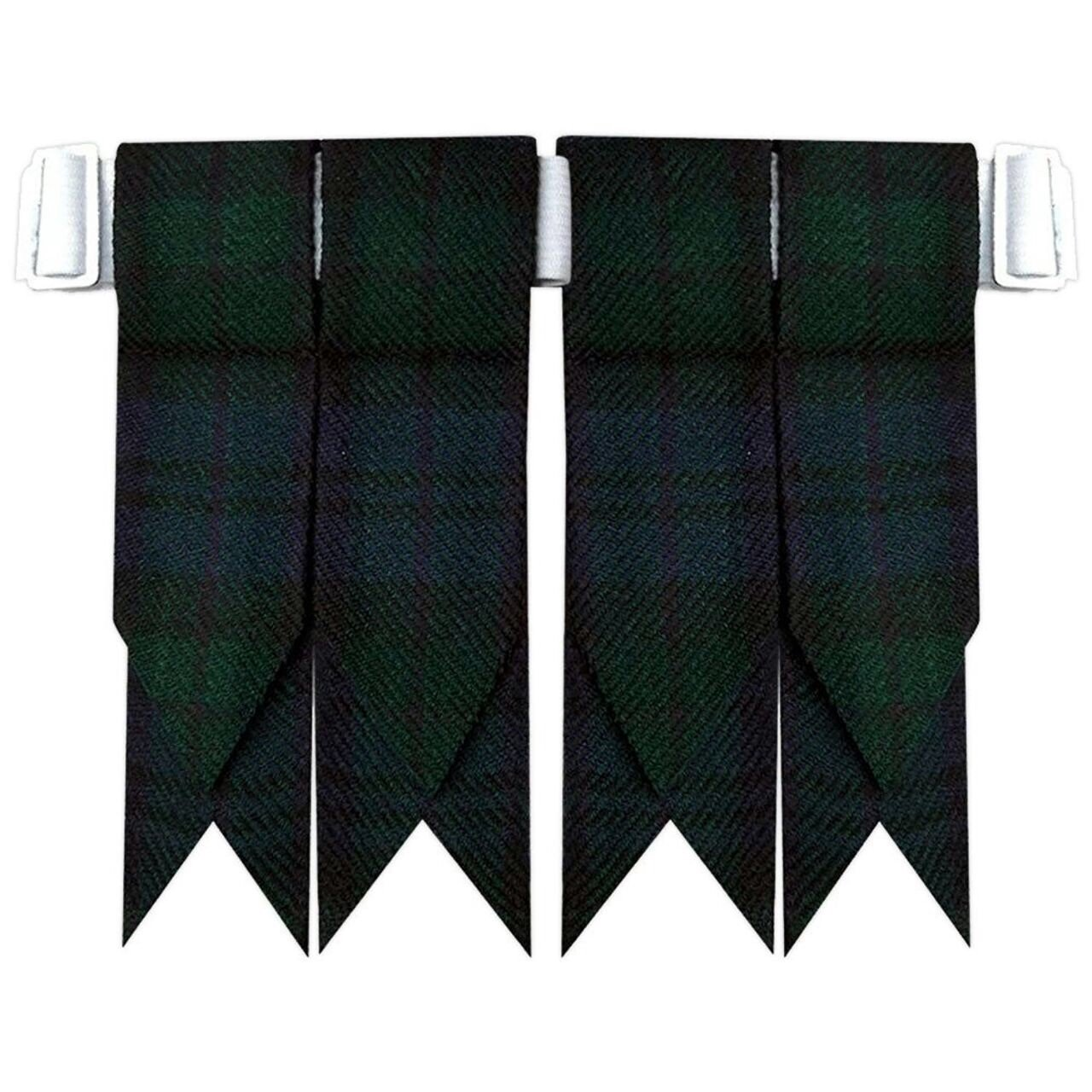 New Solid Plain Black, Royal Stewart Tartan Many More Kilt Flashes Multi Colors (Black Watch) by AAR Products