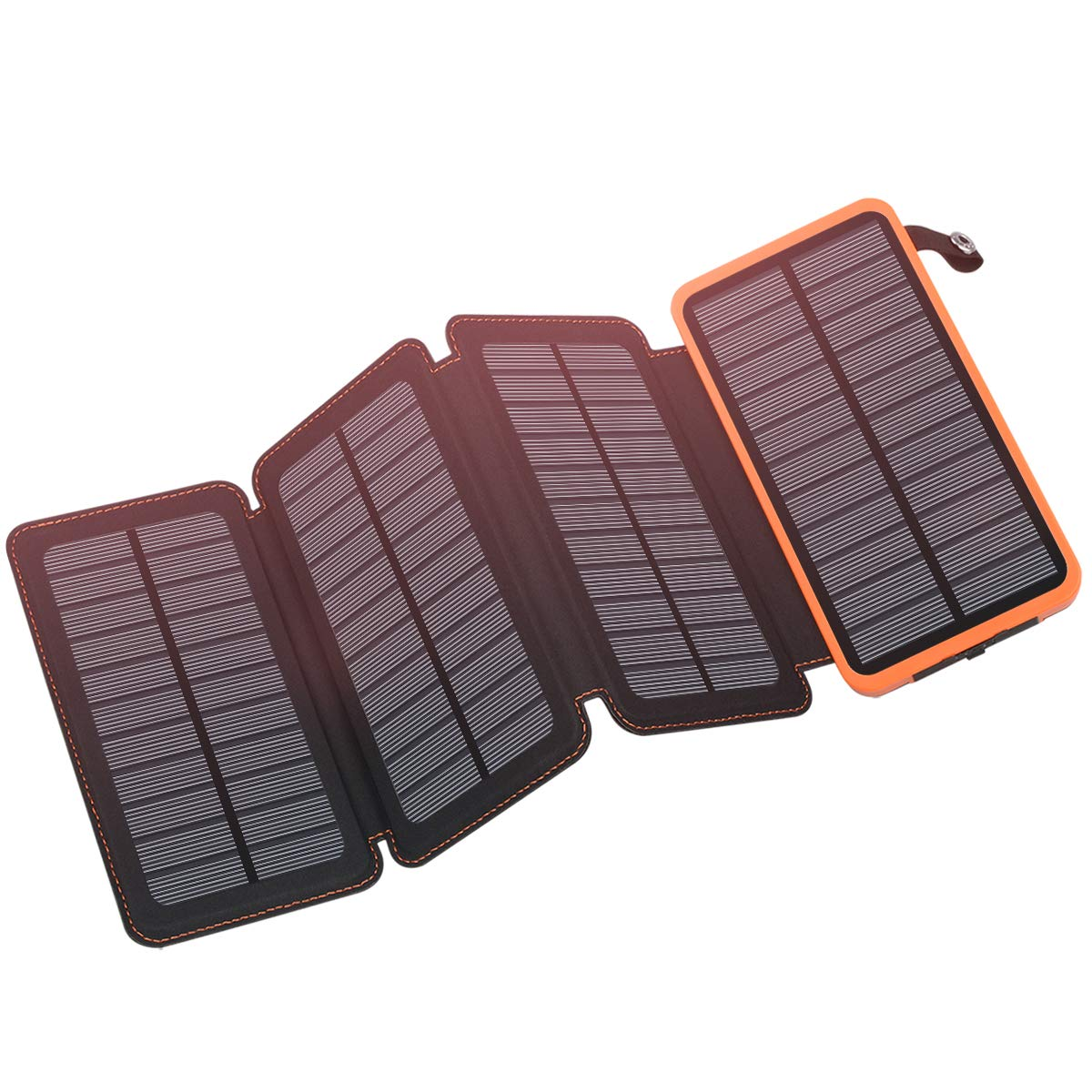 Solar Charger 25000mAh, FEELLE Solar Power Bank with 4 Solar Panels Outdoor Waterproof Solar Phone Chargers with Dual 2.1A USB Ports for Smart Phone, Tablets, Camera, ect. by Feelle