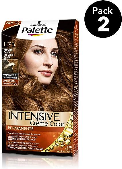 Palette Intense - Tono L75 Castaño Ambar - 2 uds - Coloración Permanente - Schwarzkopf