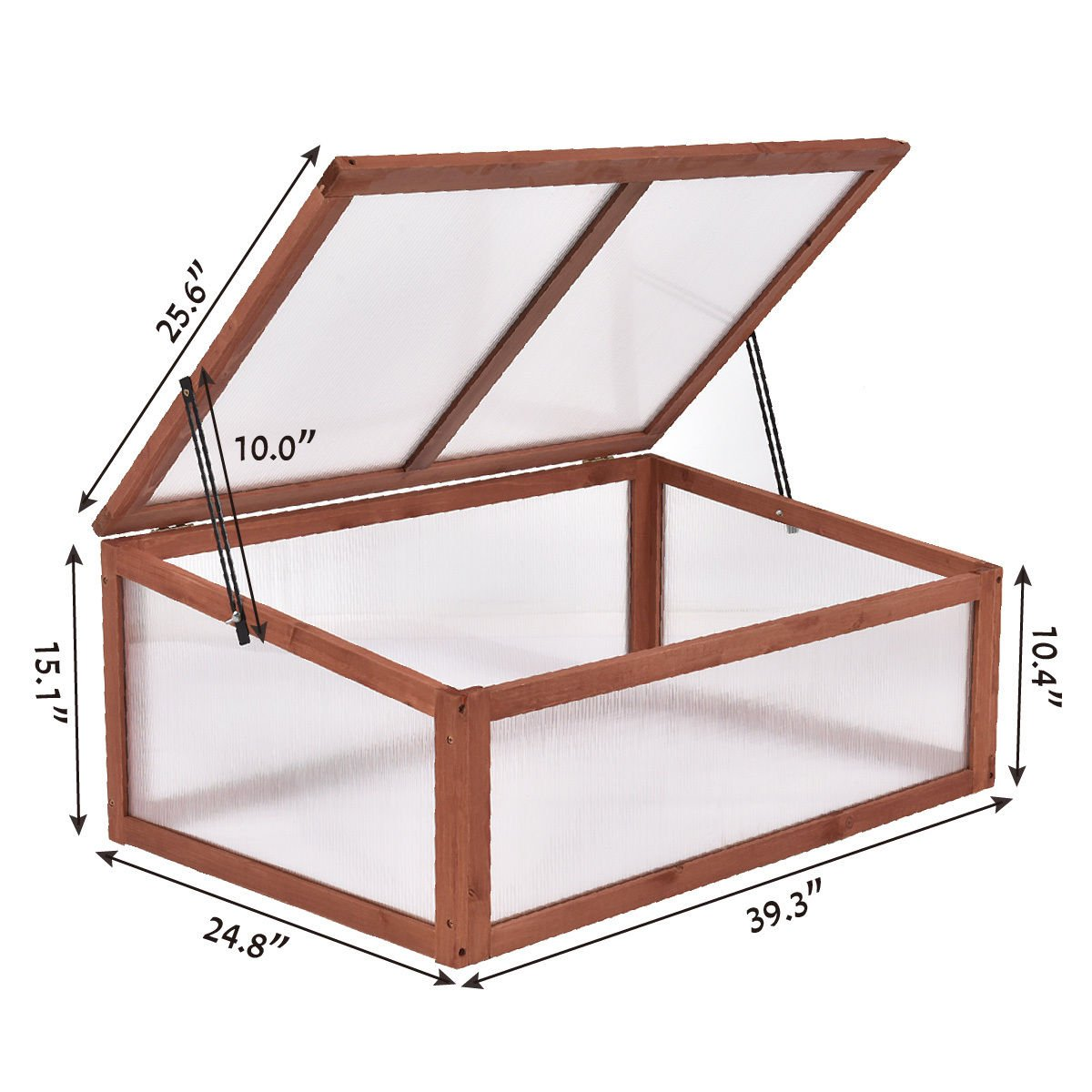 Garden Portable Wooden Raised Plants Full Green House Cold Frame Bed Protection Outdoors for mini by Heaven Tvcz (Image #3)