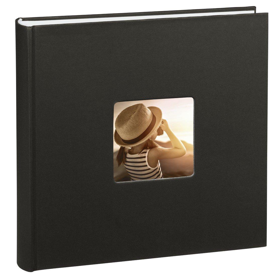 Hama Fine Art Jumbo - Álbum de fotos (30 x 30cm, 100 páginas, 50 hojas, con compartimento para insertar foto), negro 00001898