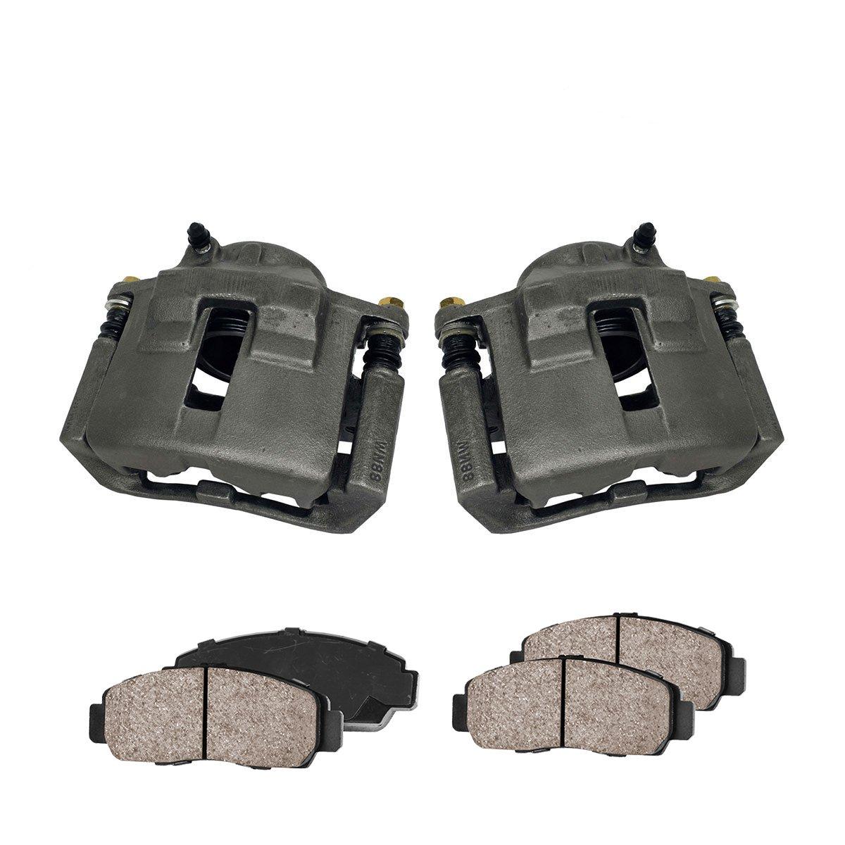 Callahan CCK03570 FRONT Premium Loaded OE Caliper Pair Hardware Kit Ceramic Brake Pads