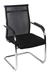 Da Urban Mesh Office Fixed Visitor Chair (Black) Iso And Bifma Certified