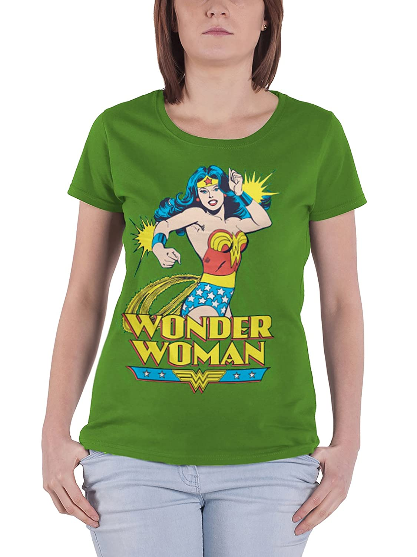 Wonder Woman WW VINTAGE EMBLEM Juniors Cap Sleeve T-Shirt