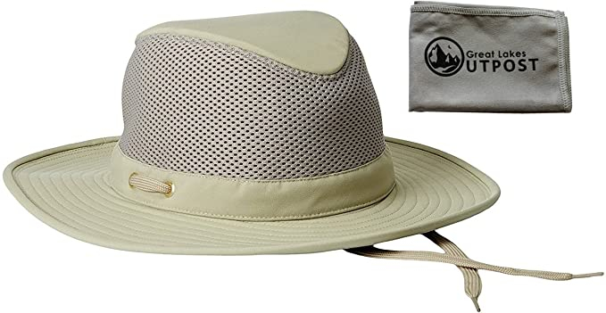 8327da9c Tilley Endurables Airflo LTM8 Nylamtium Khaki/Olive Hat Bundle with Cloth  (7 1/