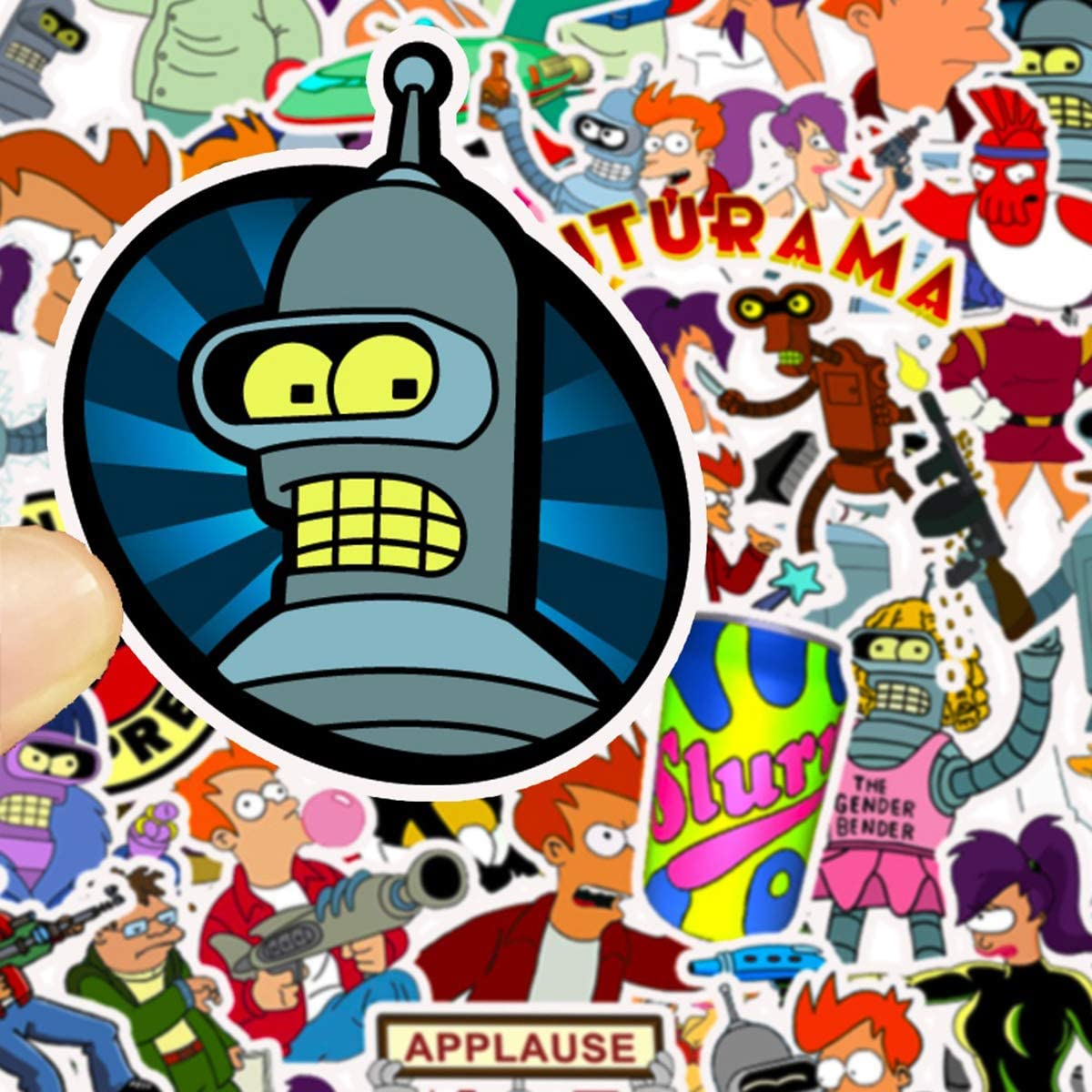 Futurama Themed Fry Stickers Car Laptop Helmet Luggage Vintage Skateboard Wall Decor Gift for Kids Futurama TV Series Decal Stickers Cartoon Waterproof Philip J