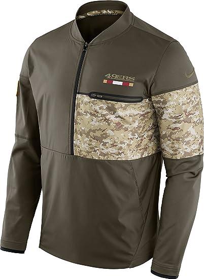 d68c8e8e2 San Francisco 49ers NFL Salute to Service Sideline Men s Hybrid Jacket  (Medium)