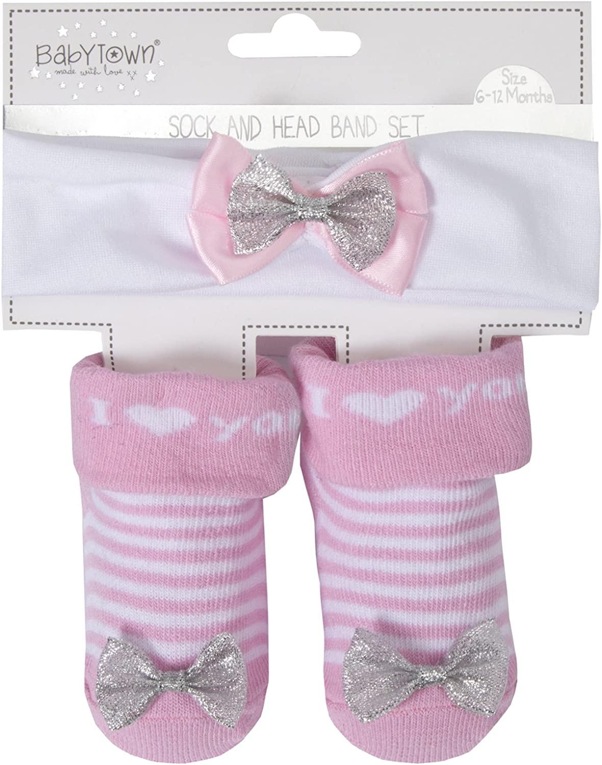 Lora Dora Baby Girls Headband and Socks Set