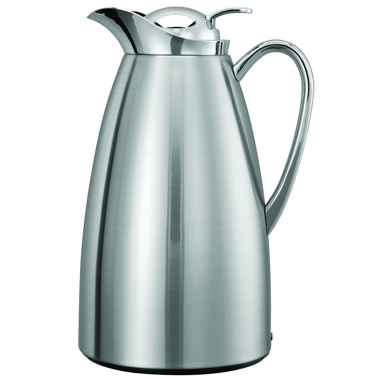 Service Ideas CJZS1BS Carafe, Stainless Steel Lined, Brushed/Polished, 1 L