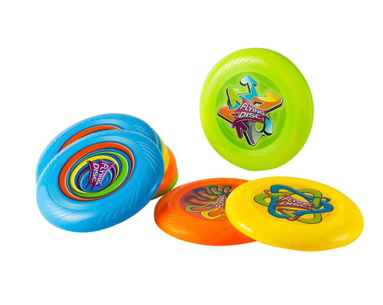 Flying Disc – 12 Pack Plastic Throwing Discs for Kids, Disc Toss for Outdoor Sports, Block Parties, Sunshine Events, Multicolored, 10 Inches in Diameter