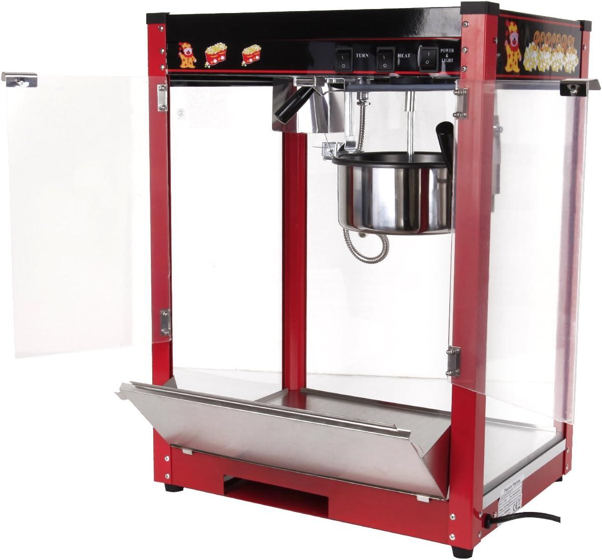 comercial Máquinas de palomitas eléctrico palomitas de maíz máquina del fabricante palomitas pop corn Maker 1370W Popper máquina palomitas automático 1/2 (pan/min)