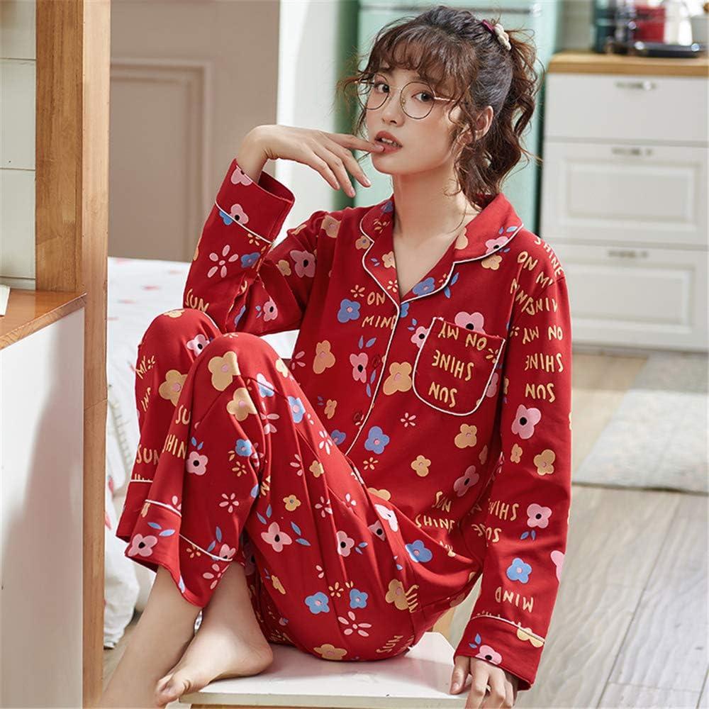 DUJUN Los Pijamas de algodón para Mujer, los Trajes de ...