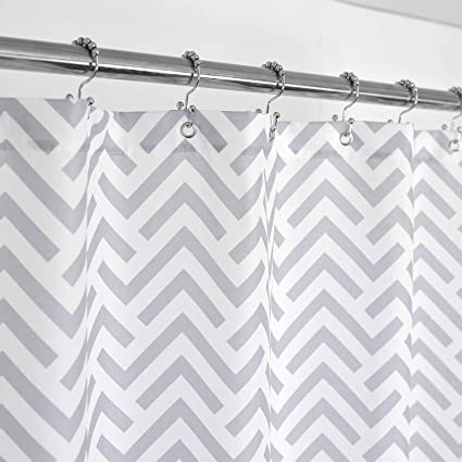 Amazon Mrs Awesome Fabric Shower Curtain With Geometric Pattern
