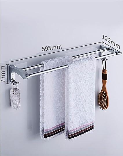 MmDLai Toalla de baño toallero de acero inoxidable barra colgador de toalla de baño,60cm