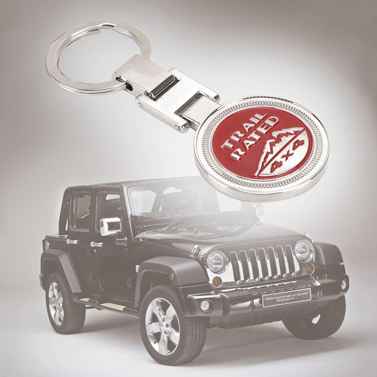 negro BOXATDOOR Llavero tasa de Trail 4/x 4/recuerdos recuerdos 3d insignia negro para los entusiastas de la Jeep