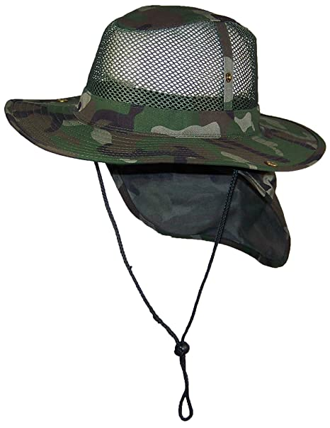 ed3bb6458cc4e2 Tropic Hats Summer Wide Brim Mesh Safari/Outback W/Neck Flap & Snap ...