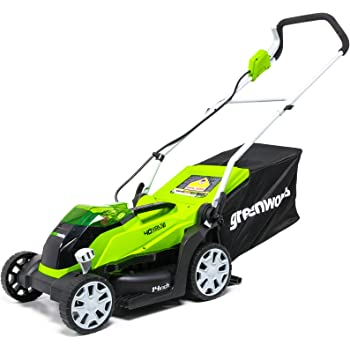 Amazon.com : Greenworks 14-Inch 40V Cordless Lawn Mower, Battery Not ...