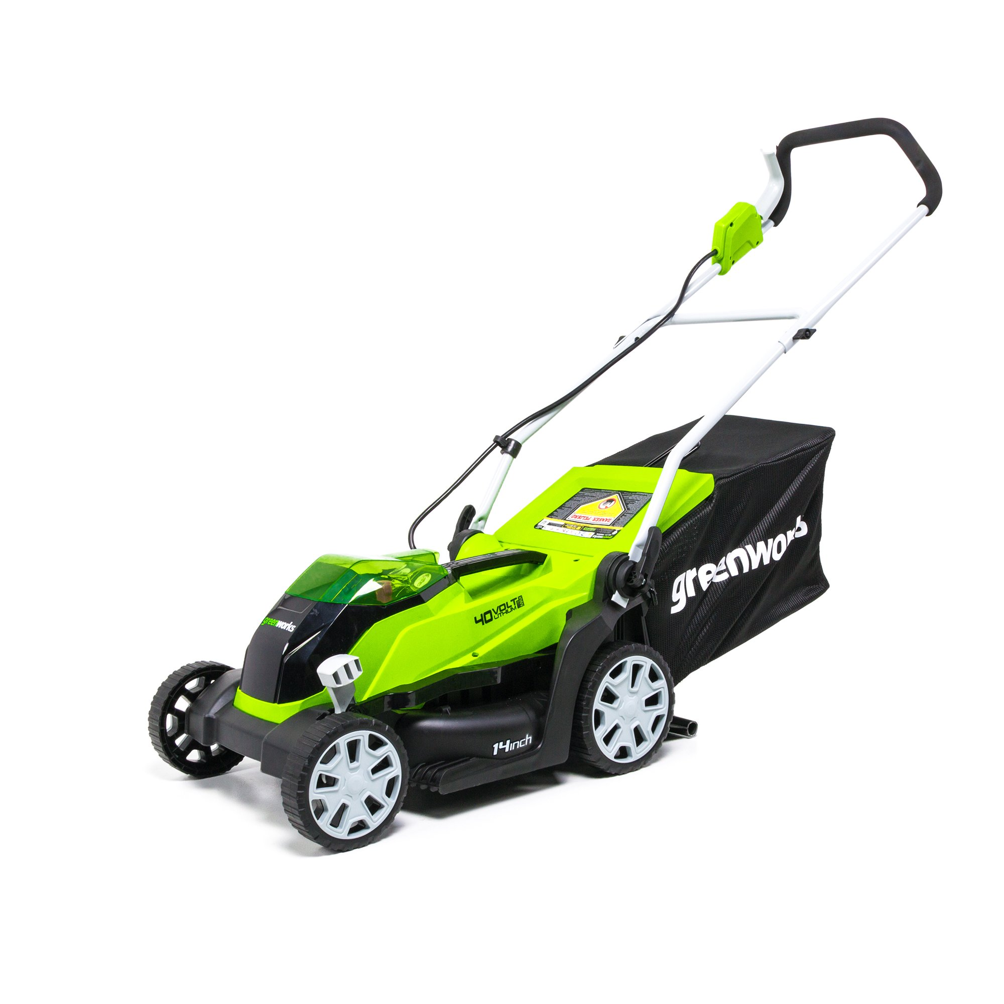 Greenworks 14-Inch 40V Cordless Lawn Mower, Battery Not Included MO40B00 by Greenworks
