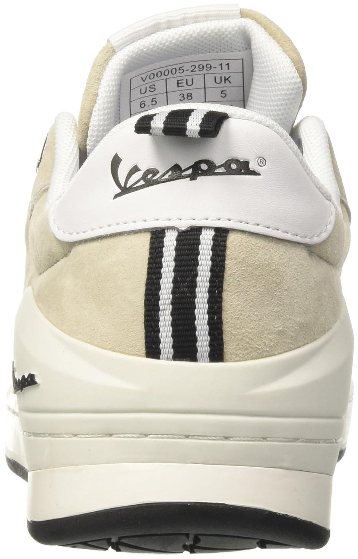Vespa Pop, Baskets Mixte Adulte, Blanc (Bianco 010), 42 EU