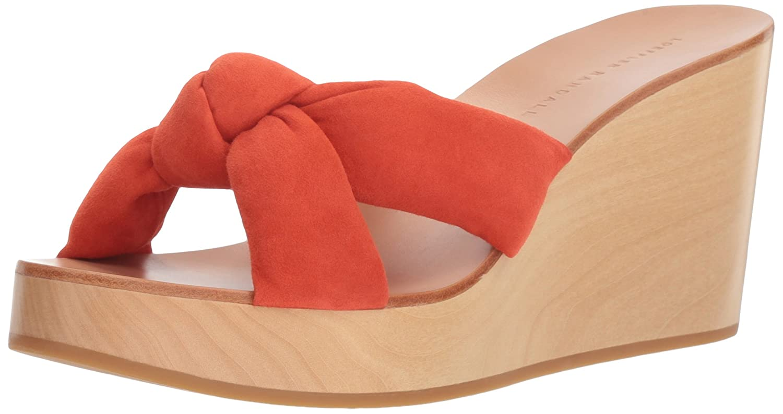 Loeffler Randall Women's Taylor (Kid Suede) Slide Sandal B074JMZQ1G 8 B(M) US|Persimmon