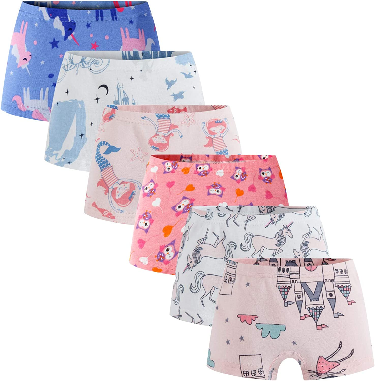 Boboking Soft 100/% Cotton Girls Panties Girlshort Little Girls Underwear Toddler Undies