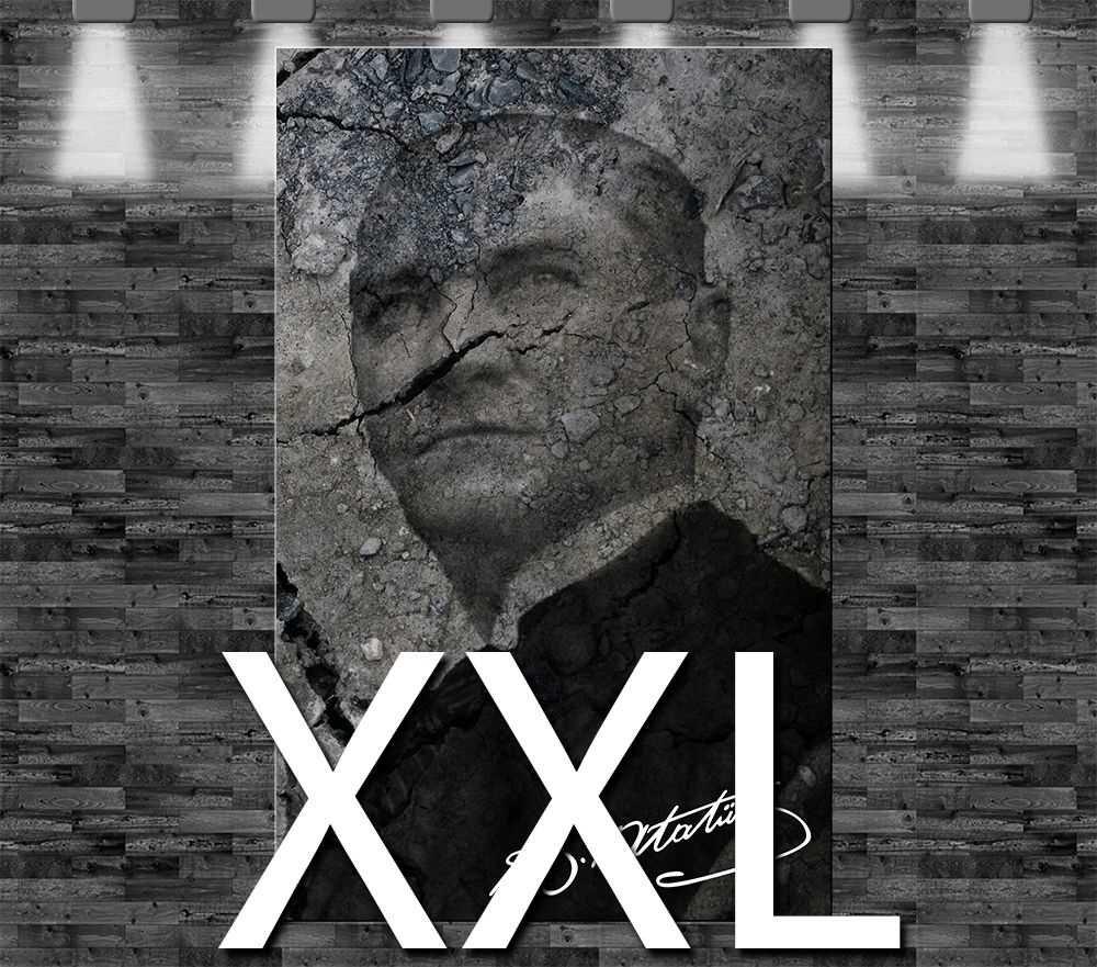 Premium Kunstdruck Leinwandbild - Kemal Atatürk auf Leinwand ...