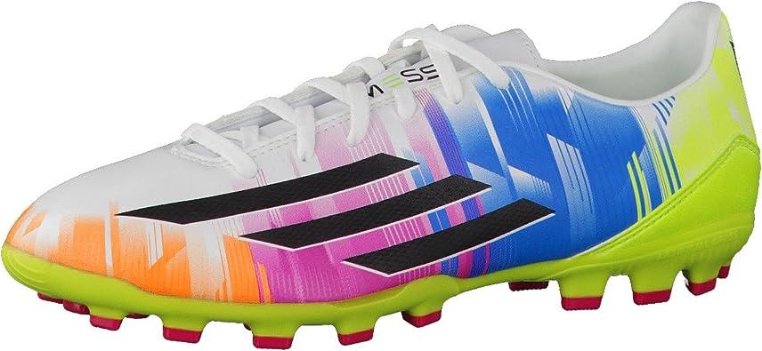Adidas-Bota F10 TRX AG Messi-white-Black-Solar slime: Amazon ...
