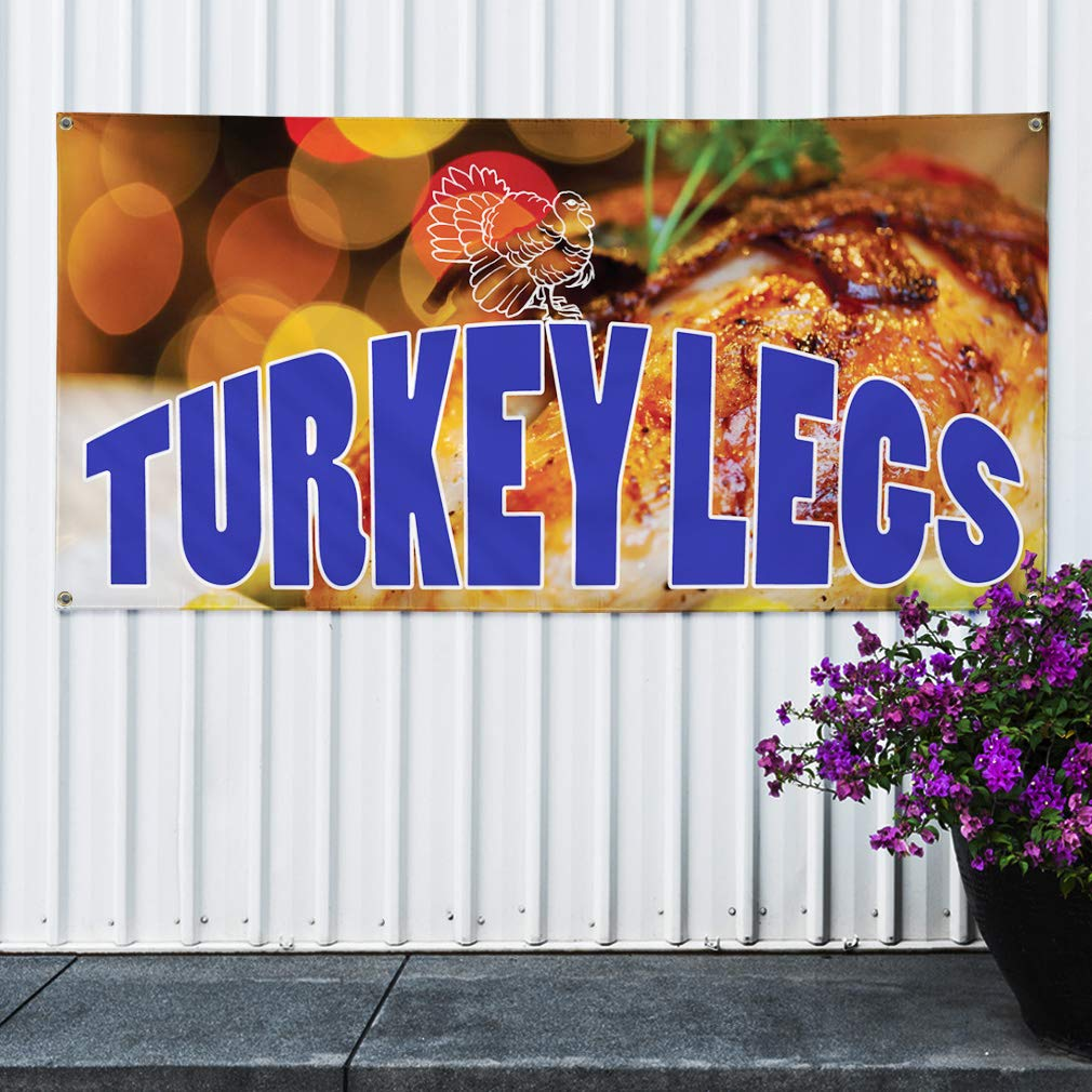 Outdoor Marketing Advertising Brown Set of 3 Multiple Sizes Available 4 Grommets Vinyl Banner Sign The Best Burgers in Town 24inx60in