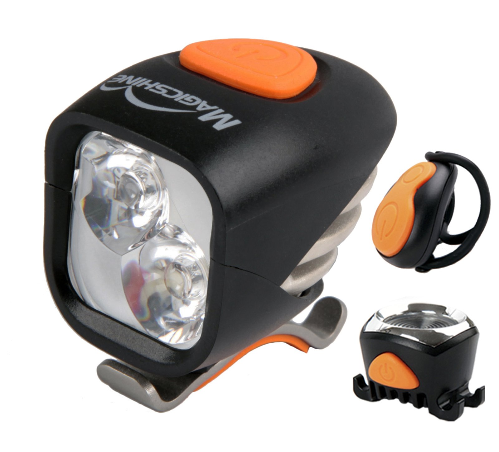 Magicshine MJ 902, 1600 Lumens Bike Light Set, Wireless Remote Bicycle Lights Front And Rear Combo, Rechargeable 2 CREE XM-L2 LED Bike Tail Light, Portable & Convenient Bright Bike Light by Magicshine (Image #1)