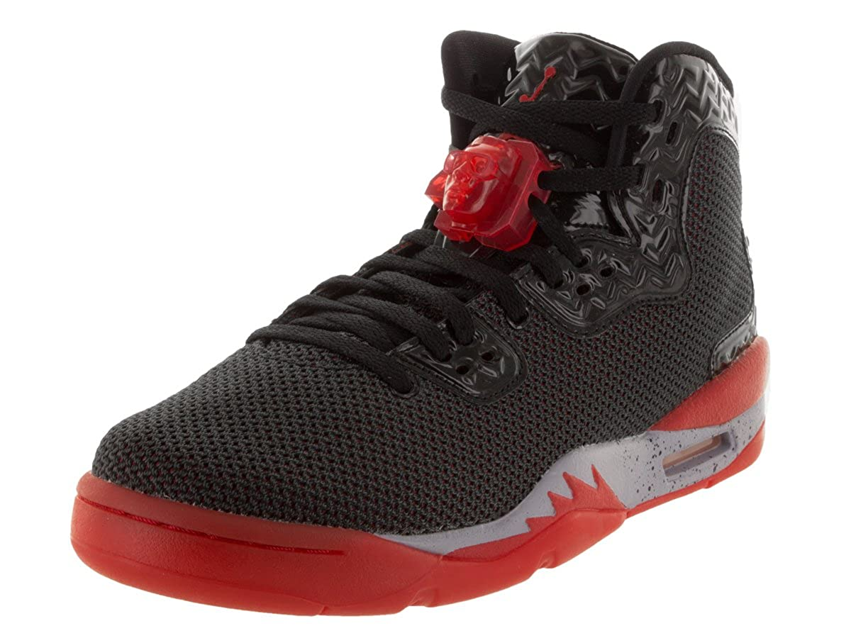 size 40 15026 1ecf1 Jordan Nike Kids Air Spike Forty Bg Black/Fire Red/Cement Grey Basketball  Shoe 6 Kids US