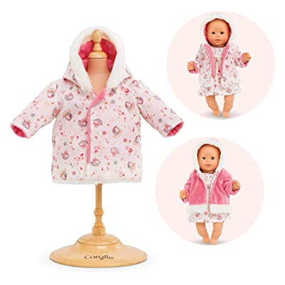"Corolle - Enchanted Winter Reversible Coat - Baby Doll Clothing Accessory for 12"" Dolls: Toys & Games"