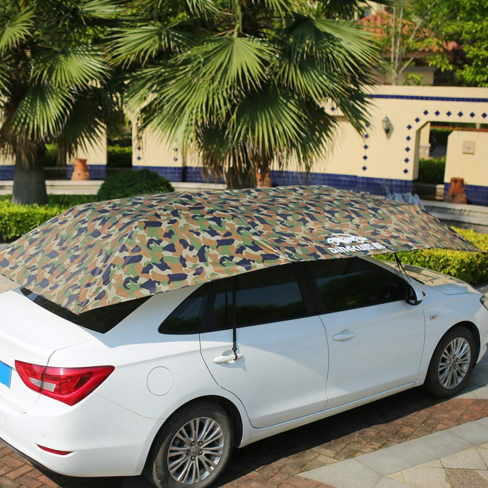 Car Awning Tent Cloth Sunshade Umbrella Universal Windproof Cover Auto Vehicle Tent Oxford Cloth,Protect from Dust Acid Rain L,Bright Silver Bird Dropping