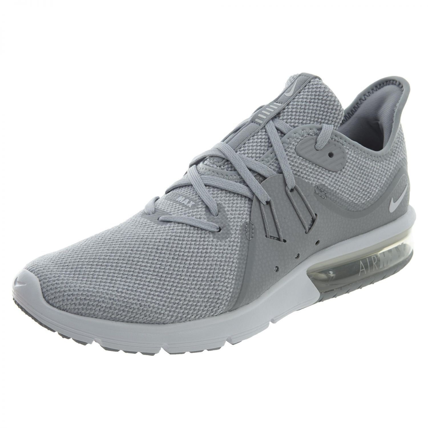 super popular c0e91 49cc7 Galleon - Nike Men s Air Max Sequent 3 Running Shoes Wolf Grey White-Pure  Platinum 7