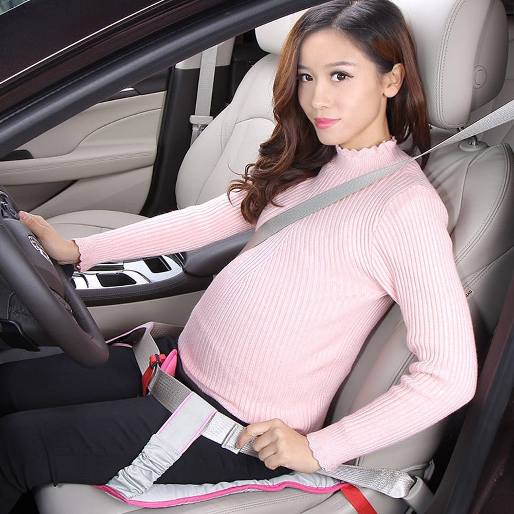 BIGWING Style-Cinturón Embarazada para Asiento de automóvil a Cojín Ajustable, Arneses de seguridad