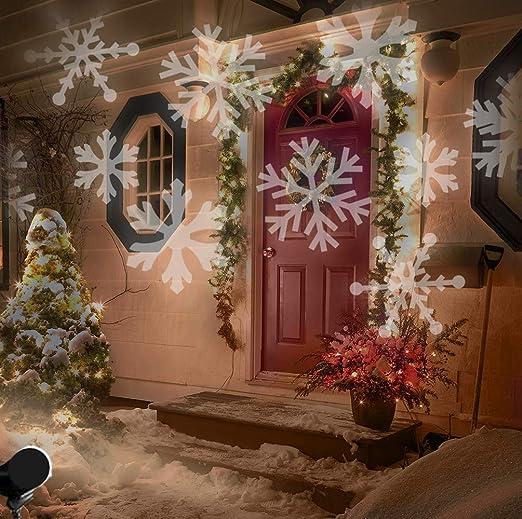 Weihnachtsbeleuchtung Aussen Motive.Led Projektionslampe Weihnachten Innen Schneeflocken Muster Weiß Led Projektor Lampe Kinder Strahler Weihnachtsbeleuchtung Außen Hauswand Garten