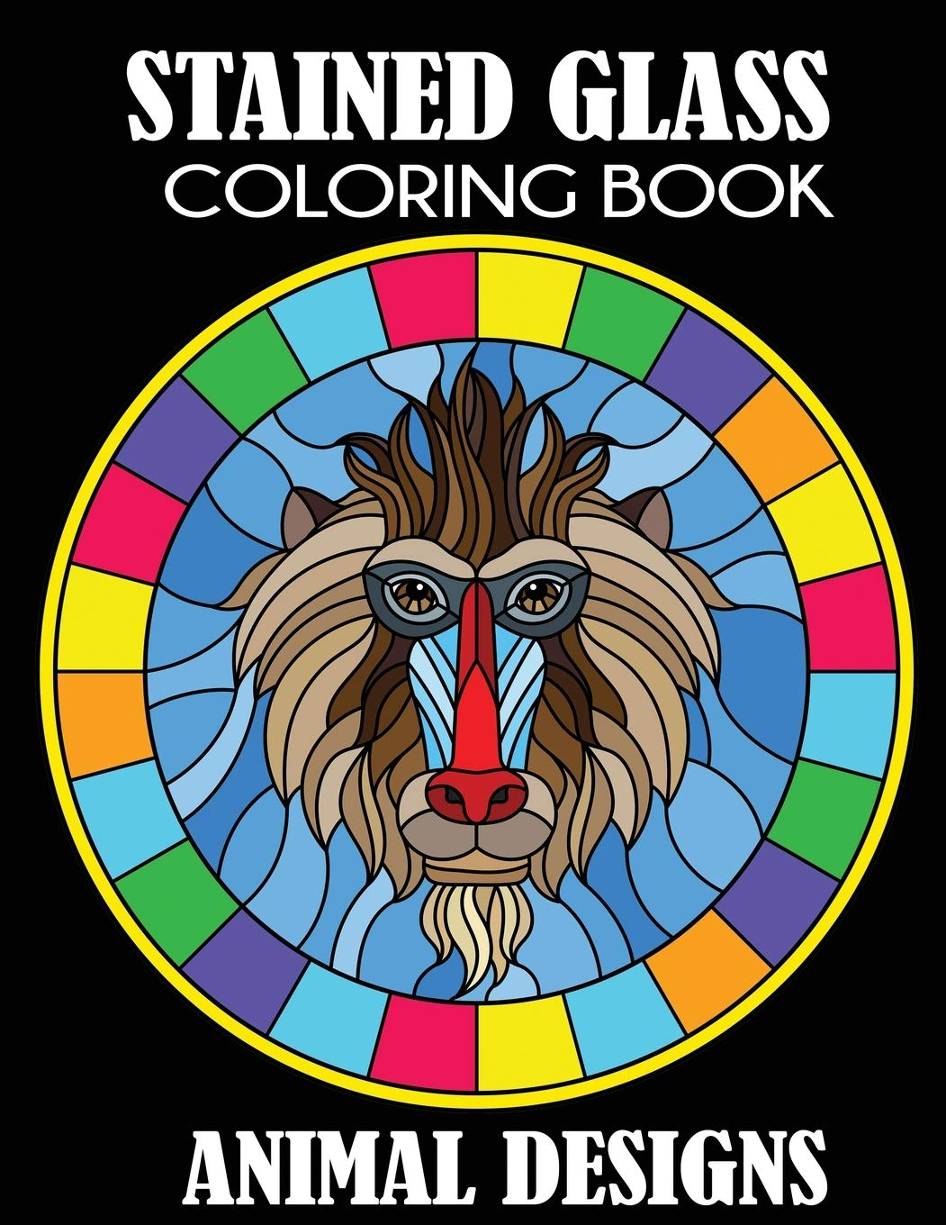 Stained Glass Coloring Book Designs product image