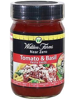 Walden Farms - Near Zero - Salsa de tomate y albahaca para pastas - 340 g