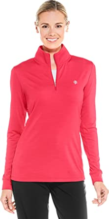 522208b9c2131 Coolibar UPF 50+ Women s Fitness Pullover - Sun Protective (X-Small- Punch