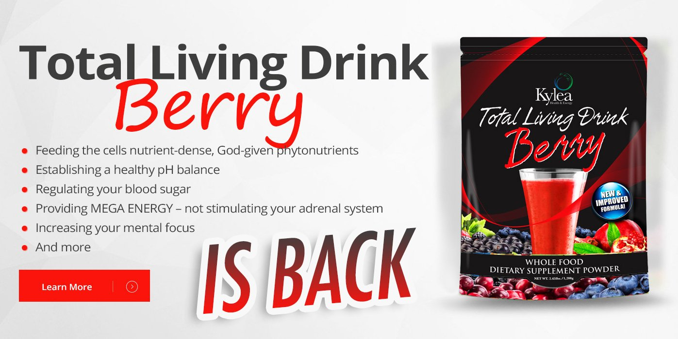 Kylea Health & Energy Total Living Drink Berry Superfood Powder - (2.18 lbs bag, 30 servings, 60 ingredients) - Enzymes, Antioxidants, Herbs, Probiotics, Vitamins and Minerals