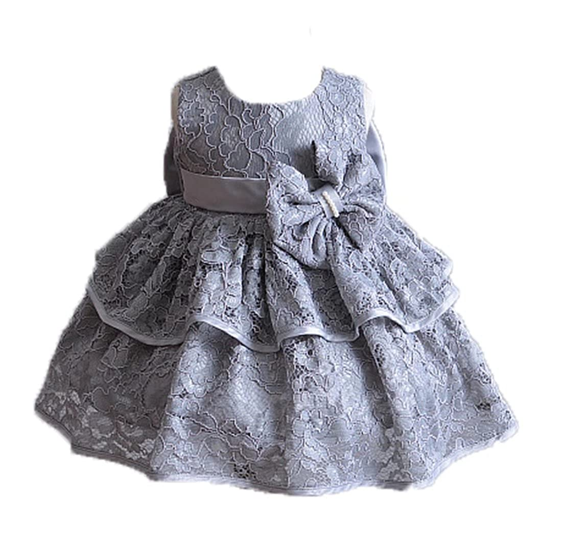 ZAH Newborns Toddler Infant Baby Girls Christening Wedding Party Gowns 3PC Baptism Dressess
