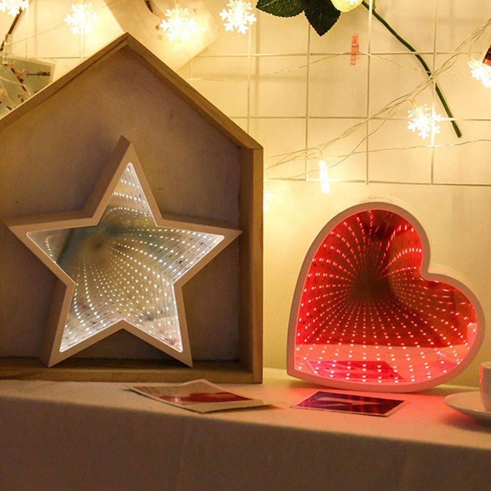 Mehrfarbig lichterkette,FeiliandaJJ 2M 10LED Kristallklarer Stern LED Licht Hochzeit Party Weihnachten Weihnachten Halloween Innen//Au/ßen Haus Deko String Lights 3xAA Batterie