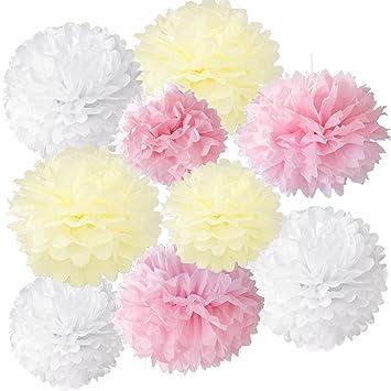 tmade juego de papel de seda pompones bola de flores para boda fiesta de cumpleaos