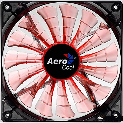 Aerocool SHARK - Ventilador gaming para PC (12 cm, 12V/7V, 15 ...
