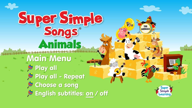 amazon com super simple songs animals dvd movies tv
