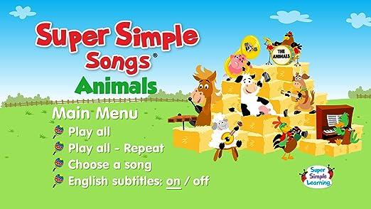 Amazon.com: Super Simple Songs - Animals DVD: Movies & TV