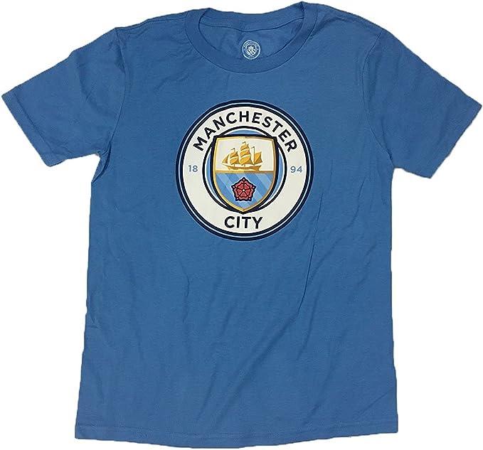 stile classico scaricare la consegna prezzo basso Amazon.com: Manchester City Adidas Youth Crest Logo Shirt (X-Large ...