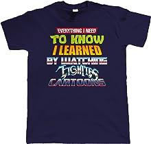 vectorbomb Eighties Cartoons, Mens Retro T Shirt