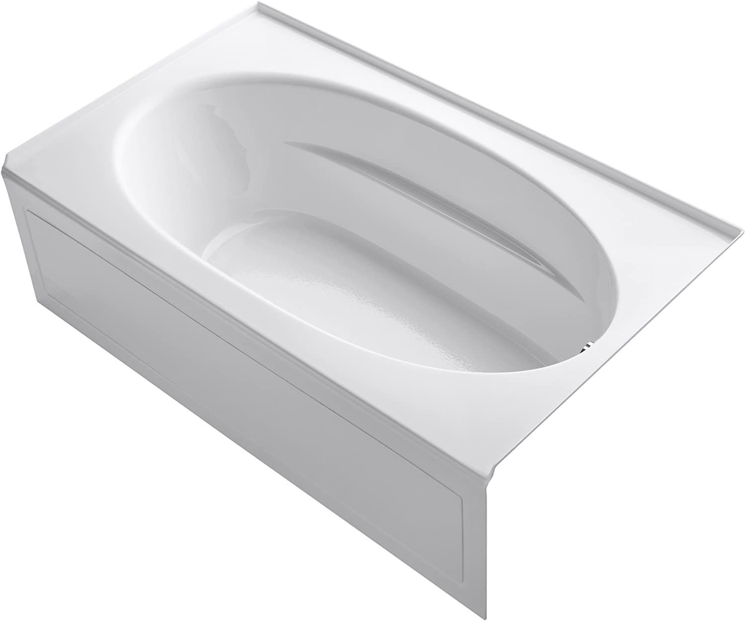 KOHLER K-1115-RA-0 Windward 6-Foot Bath with Integral Apron, White