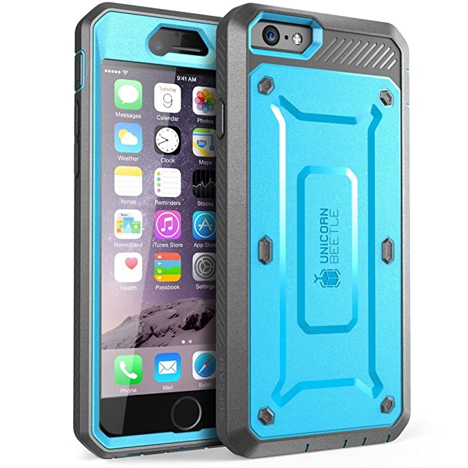 quality design cb4e2 b0f1c SUPCASE [Unicorn Beetle Pro] Case Designed for iPhone 6S, with Built-in  Screen Protector Rugged Holster Cover for Apple iPhone 6 Case / 6S 4.7 Inch  ...