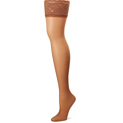 Hanes Silk Reflections Women's Lace Top Thigh High at Women's Clothing store: Pantyhose